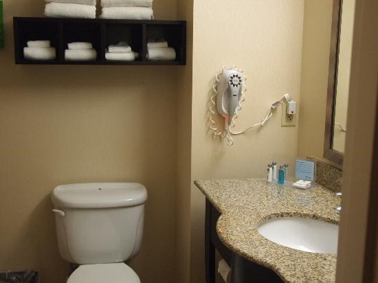 Hampton Inn Topeka: Bathroom