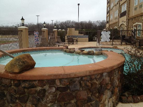 La Quinta Inn & Suites Allen at The Village: Relax after a long day in our outdoor heated pool and hot tub.