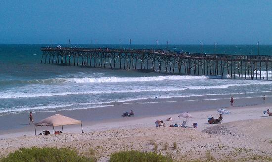 View from our balcony picture of jolly roger inn pier for Jolly roger pier fishing report