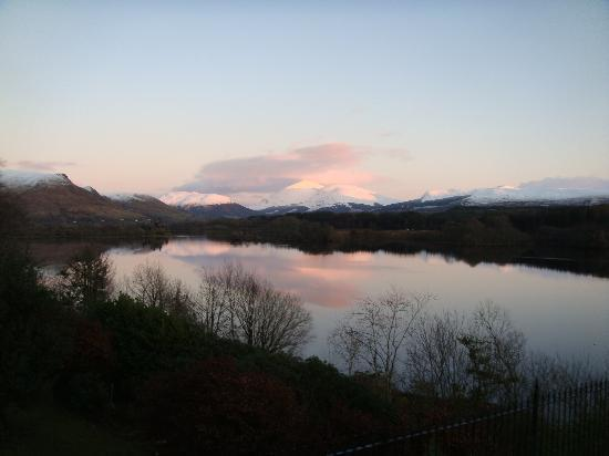 Loch Awe, UK : View from the hotel at sunset