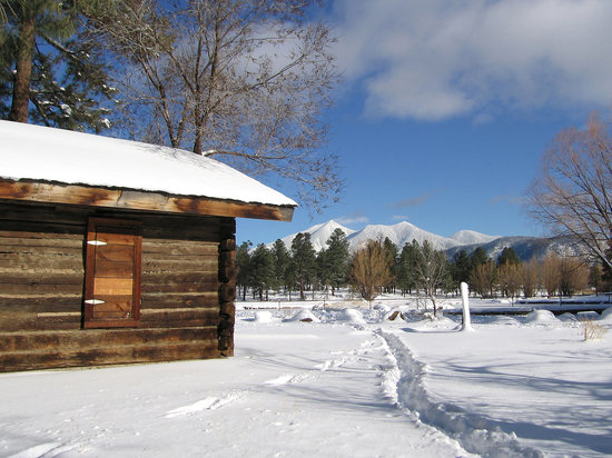 Flagstaff, AZ: San Francisco Peaks in winter