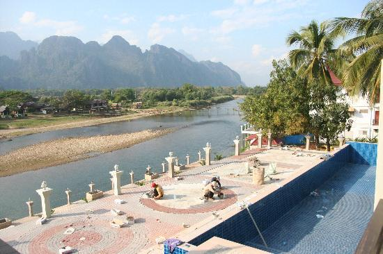 The Unfinished Pool Picture Of Silver Naga Hotel Vang Vieng Tripadvisor