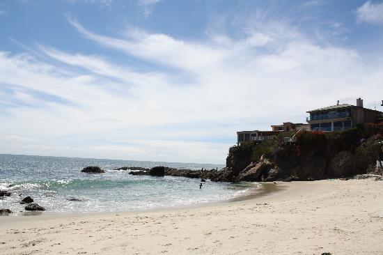 Laguna Beach Inn: The beach (woods cover) which was a 2 minute walk from the hotel