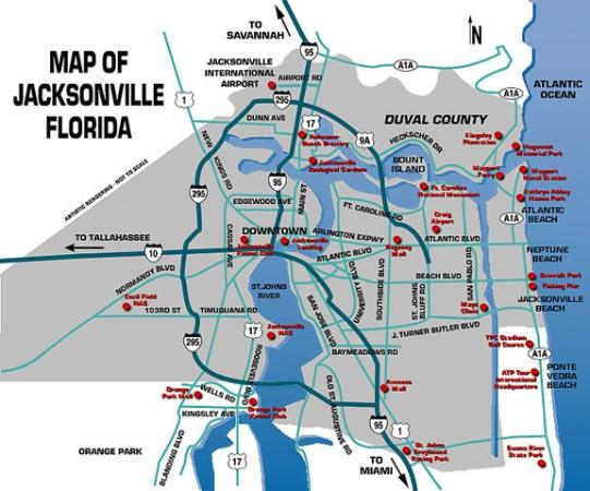 City Map  Picture Of Regency Inn Jacksonville