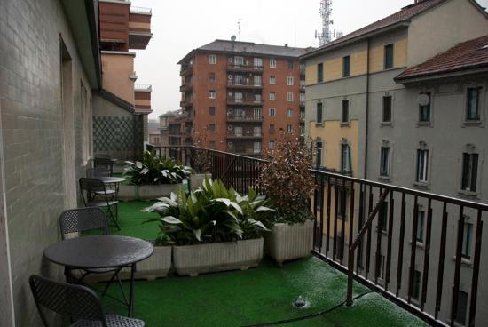 Hotel Berlino: upper floor room with a terrace, nice even in winter