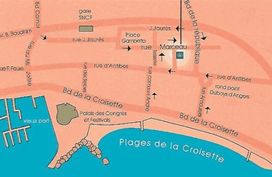 Appia Hotel: Location map
