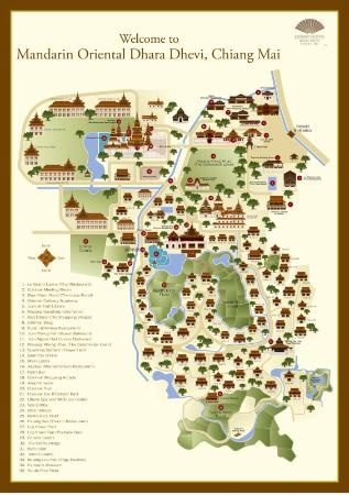 Mandarin Oriental Dhara Dhevi, Chiang Mai: Resort Map
