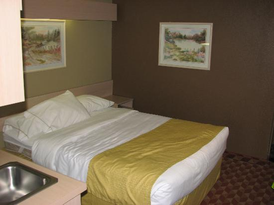 Microtel Inn & Suites by Wyndham Maggie Valley: Bed near door