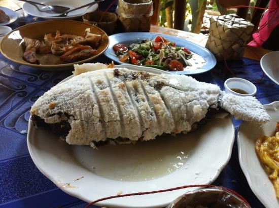 Grilled salt crusted fish for lunch picture of untouched for Bluesalt fish grill