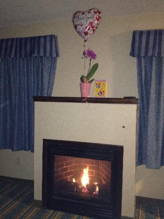 BEST WESTERN Berkshire Hills Inn & Suites: Fireplace in room