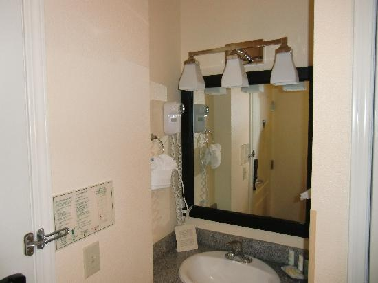 Quality Inn Silicon Valley: basin out off bathroom