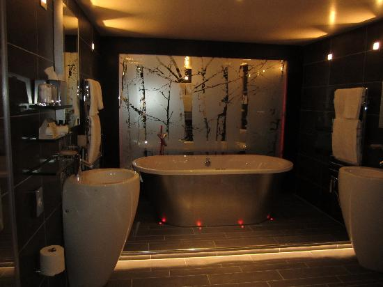 Cedar Manor Hotel and Restaurant: THE bathroom with THE bath