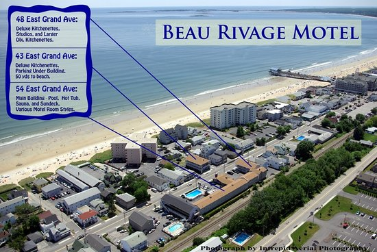 Beau Rivage Motel aerial shows Buildings & Pier