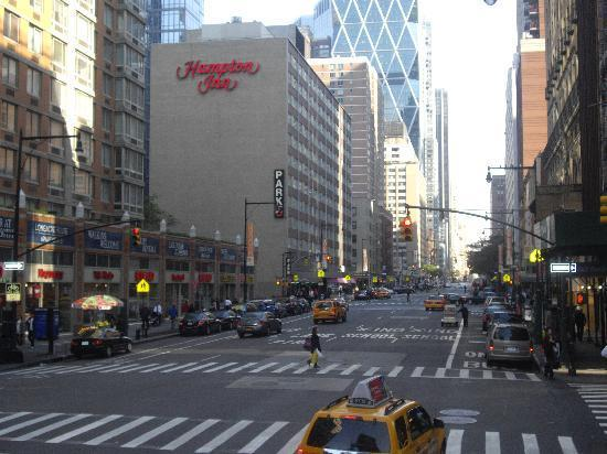 The Hotel From 8th Ave Picture Of The Hampton Inn Times Square North New York City Tripadvisor