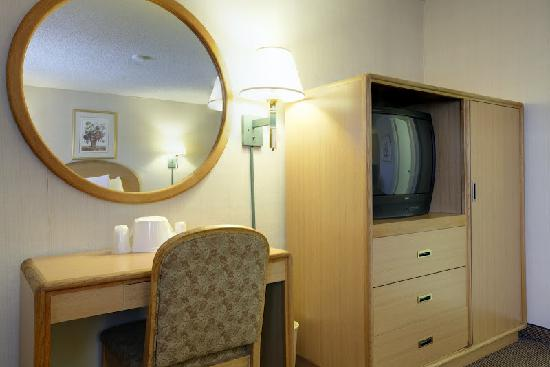 Americas Best Value Inn Hotel Visalia: TV and Desk
