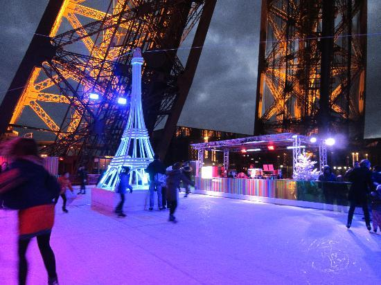 Ice Rink On The Eiffel Tower Picture Of Eiffel Tower