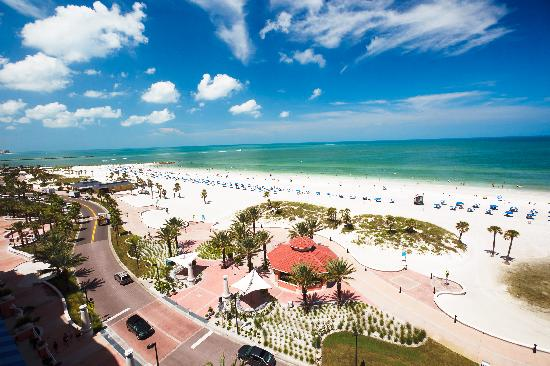 Beach Walk on Clearwater Beach is a winding beachside promenade ideal for walking or biking.