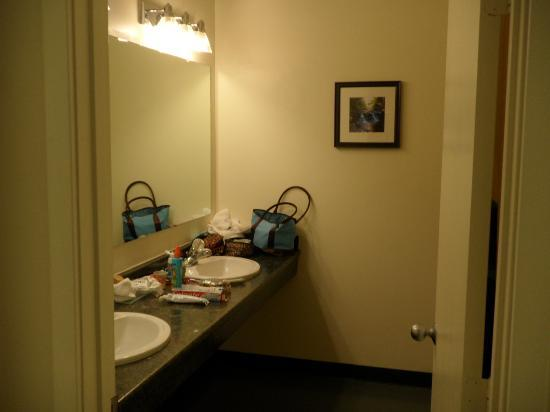Attitash Grand Summit Hotel: Decent size bathroom with D/Sink