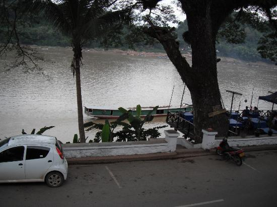 Luang Prabang River Lodge 2: Open air restaurants line the street and did not disappoint