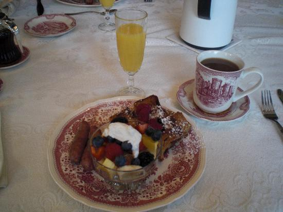 Fisher House Bed and Breakfast: Delicious!