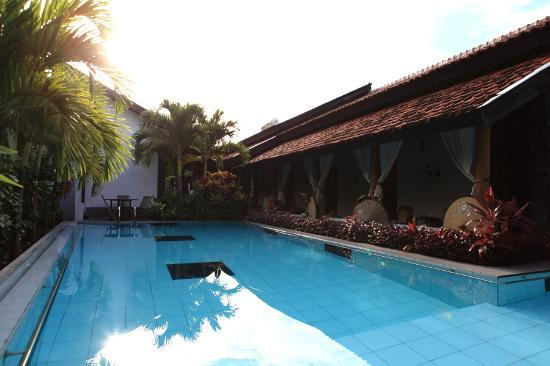 Rumah Palagan Yogyakarta: The Swimming Pool, view to the rooms.