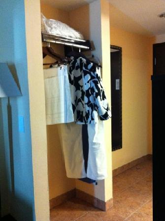 Holiday Inn Express Hotel & Suites Ft. Lauderdale Airport/Cruise: the closet area