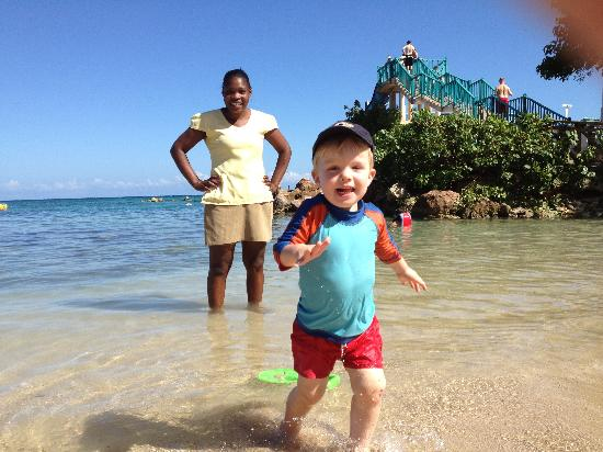 Franklyn D Resort & Spa: Nanny Kadian with our son