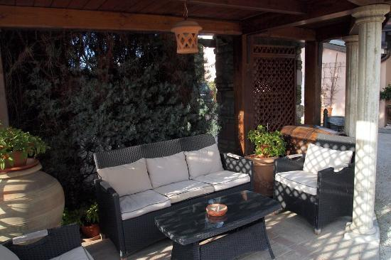 County House Il Roseto: Lovely garden and chairs around the house, must be pretty in the Spring & Summer time sitting ou