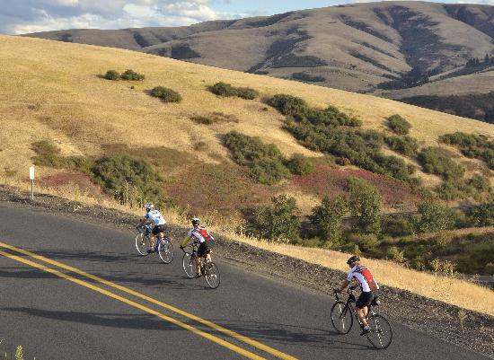 Cycling in and around Pendleton is fantastic. Photo provided by Leon Werdinger.