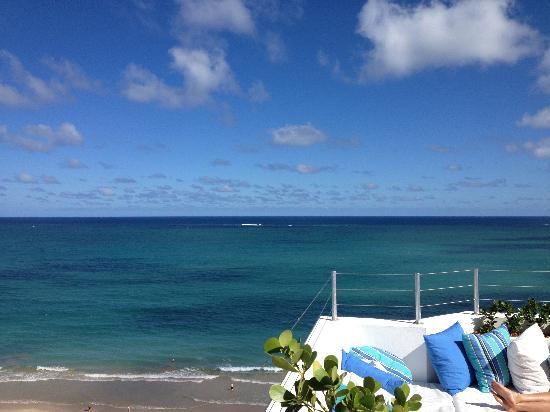 Isla Verde, Puerto Rico: The view from the rooftop lounge.