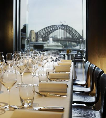 Cafe sydney s private dining picture of cafe sydney for Best private dining rooms sydney