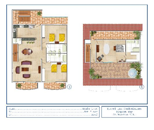 Simpson Bay Suites: 3 BDR Lay Out