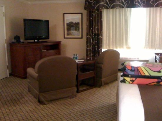 Holiday Inn Auburn: Big cushy chairs and nice big screen t.v.