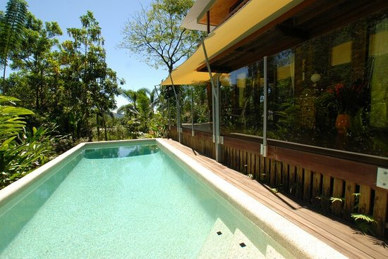 Papillon Bed & Breakfast: Your pool and rooms off your private deck