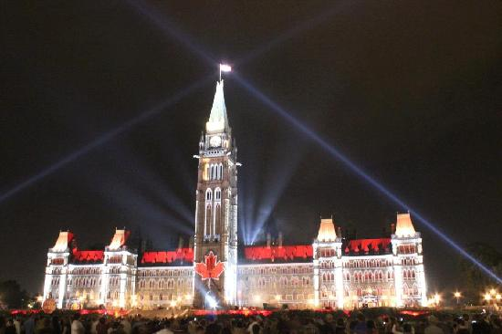 Ottawa, Canada: Parliament building during Mosaika