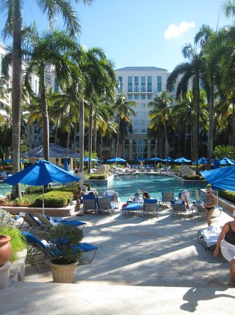 Ritz-Carlton San Juan Hotel, Spa &amp; Casino: Pool with resort behind it