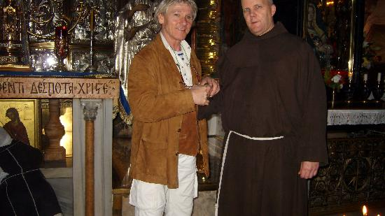 Allenby Bed &amp; Breakfast: Brother John (Franciscan) keeper of Golgotha and the Holy Sepulcre+I