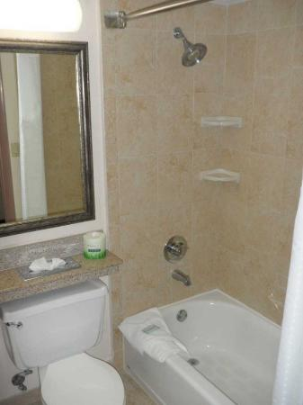Holiday Inn Express Miami-Hialeah (Miami Lakes): Notice the granite detailing -- in a Holiday Inn Express, no less! Nice touch.