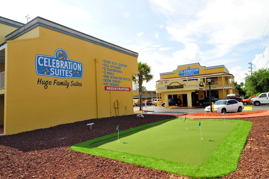 Celebration Suites: Mini-Golf & Registration Building