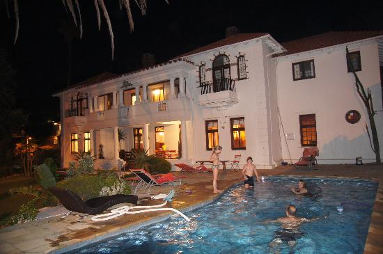 Villa St James: in the pool at night