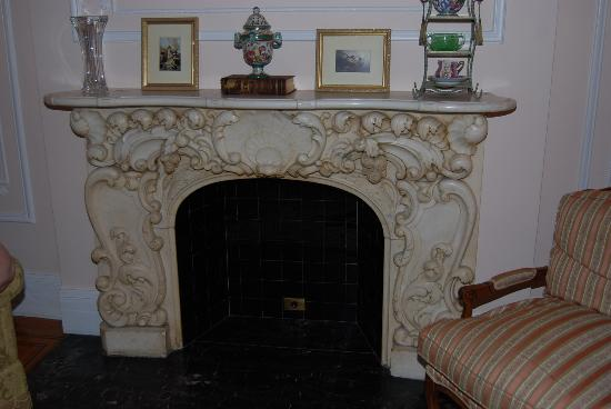 Wyman House: Beautiful fireplace in the Versailles Apartment