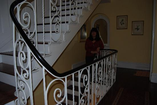 Beautiful staircase at The Wyman House