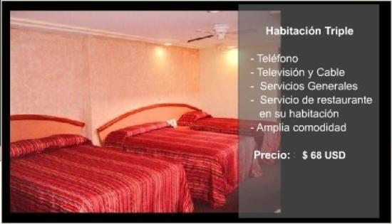 Hotel Monte Real: Habitaciontriple