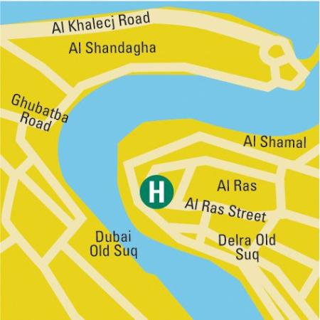 St. George Hotel Dubai: Map