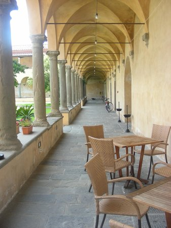 Hotel Santa Croce in Fossabanda: Outside the breakfast room