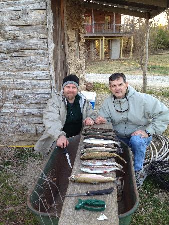 Riverside Retreat On The White River: A day&#39;s limit - we caught about 50 fish each day between two of us.