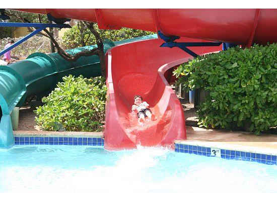 Palmas Del Mar Oceano Beach Resorts: Water slide at the Beach Club