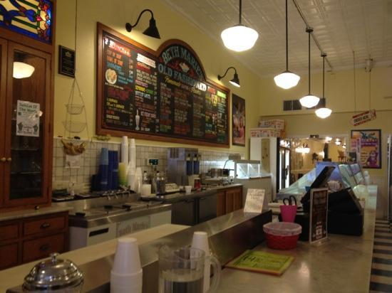 Where the ice cream is picture of beth marie 39 s old for Old fashioned ice cream soda fountain