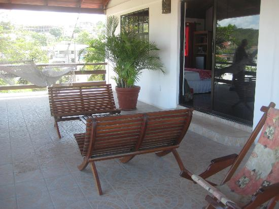 Martha's Guesthouse: Our veranda