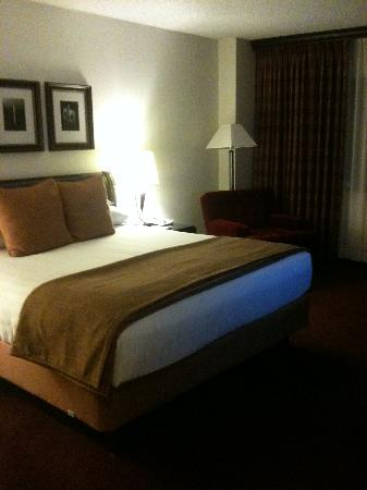 Hyatt Regency Bethesda: Bed view with velvet chair